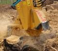 Stubbefreser til gravemaskin og traktor